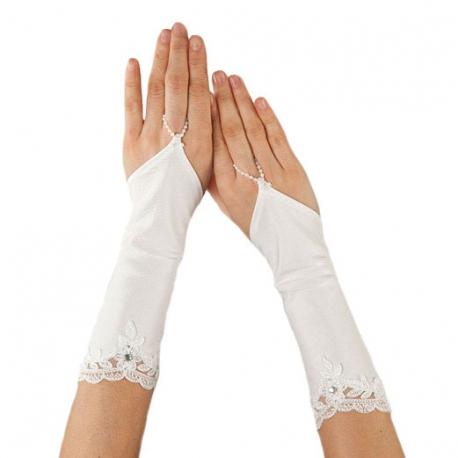 Rękawiczki komunijne do Pierwszej Komunii Świętej RKC70