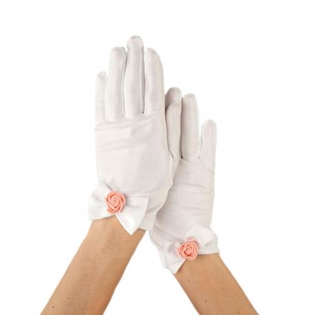 Rękawiczki komunijne do Pierwszej Komunii Świętej RKC74