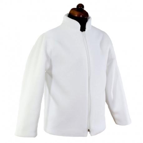 Biała bluza polarowa dla chłopca do Komunii Świętej BKC46