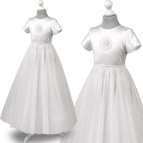 Sukienka komunijne alba sukienki komunijne alby model Tosia60BI