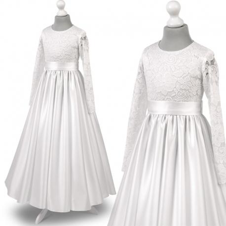2e2f4474e9 Nowe Sukienka komunijne alba sukienki komunijne alby model Anna27SR
