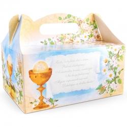 Pudełko na ciasto komunijne dla gości 10 sztuk PUDCS7