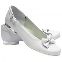 Buty komunijne dla dziewczynki baleriny MIKO OM806