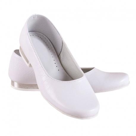 Buty komunijne dla dziewczynki baleriny OM810
