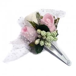 Spinka do włosów z kwiatuszkami jak żywe SM21