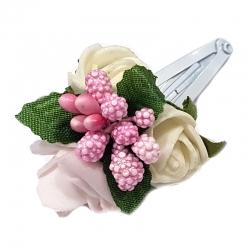 Spinka do włosów z kwiatuszkami jak żywe SM23