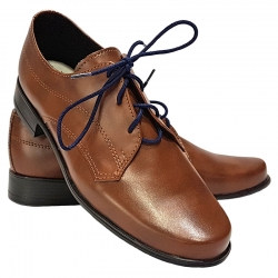 Buty wizytowe komunijne dla chłopca brąz OM19