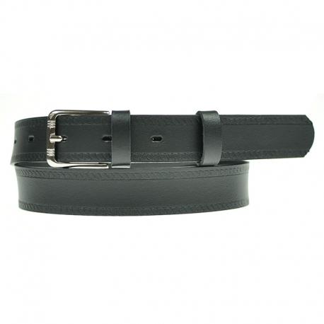 Pasek do spodni w kolorze czarnym PS03