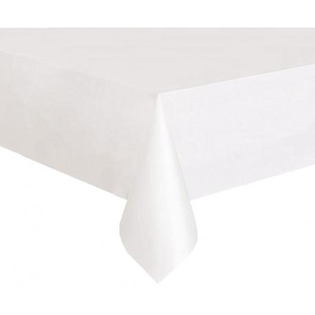Biały obrus plamoodporny o wymiarach 180 x 300