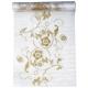 Bieżnik, biała organza ze złoceniami 0.36 x 9 m. ORD4-008