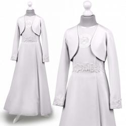 Alba sukienka komunijna z bolerkem Celinka 69BI-b