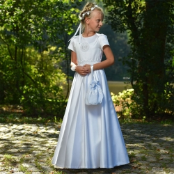 Sukienka komunijna alba Angelika 53BI rozmiar 134