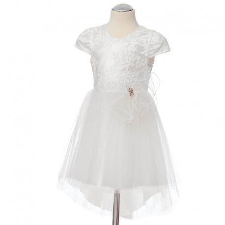 Sukienka dziewczęca model Cleo w kolorze śmietanowym