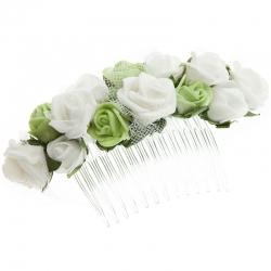 Grzebień do włosów z kwiatkami jak żywe model G30