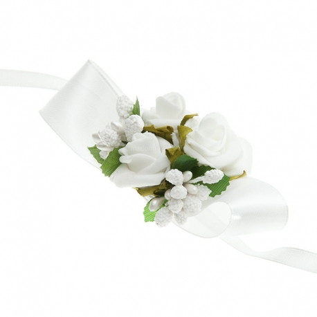 Bransoletki na rękę z kwiatkami jak żywe BR01