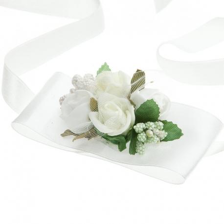 Bransoletka na rękę z kwiatkami jak żywe opaska BR04