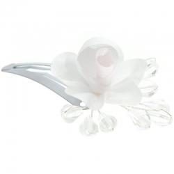 Spinka do włosów z kwiatkiem i kryształkami WP17