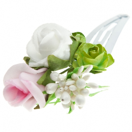 Spinka do włosów z kwiatkami jak żywe WP30