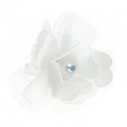 Biała spinka do włosów WP07-18