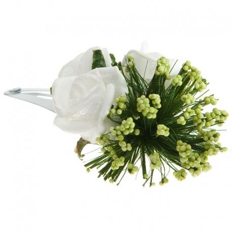 Spinka do włosów z kwiatuszkami jak żywe SM22