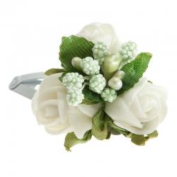 Spinka do włosów z kwiatuszkami jak żywe SM24