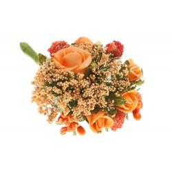 Kwiatki sztuczne piankowe brokuł bukiet pomarańcz