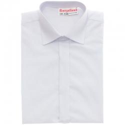 Klasyczna biała koszula z długim rękawem KSZ01