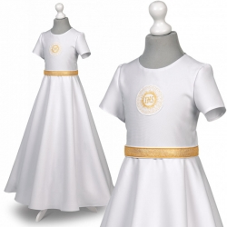 Sukienka komunijna alba Roksana 25ZL rozmiar 152