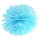 Pompon bibułowy, błękit, 35cm PP35-011
