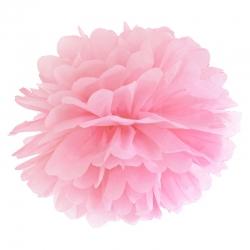 Pompon bibułowy, j. różowy, 35cm PP35-081