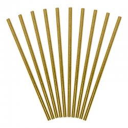 Słomki papierowe, złote, 19,5cm SPP4M-019