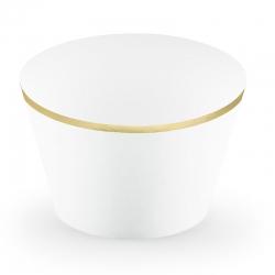 Papilotki na muffinki, 4,8x7,6x4,6cm, białe FM15-008