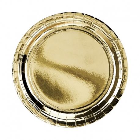 Talerzyki papierowe złote, 23cm TPP58-019ME