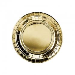 Talerzyki papierowe złote, 18cm TPP57-019ME