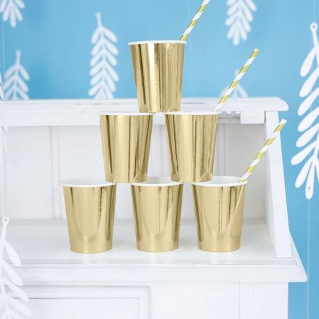 Kubeczki papierowe złote 220ml KPP57-019ME