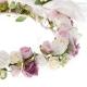 Wianuszek komunijny z różem i fioletem WK95