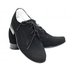 Buty komunijne dla chłopca czarne nubuk OM14