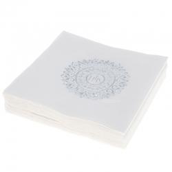 Serwetki papierowe 3 warstwowe 20szt. białe srebrny nadruk