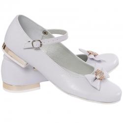Buty komunijne dla dziewczynki baleriny MIKO OM805