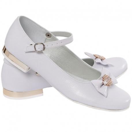 Buty komunijne dla dziewczynki baleriny OM805