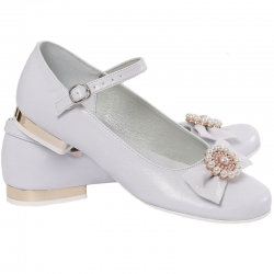 Buty komunijne dla dziewczynki baleriny OM807