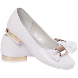 Buty komunijne dla dziewczynki baleriny MIKO OM801