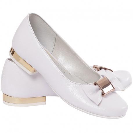 Buty komunijne dla dziewczynki baleriny OM801