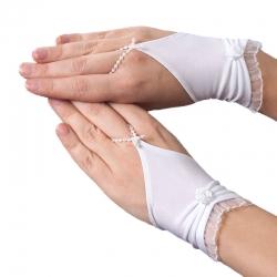 Rękawiczki komunijne do Pierwszej Komunii Świętej RKC50