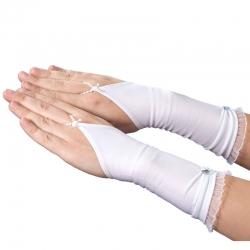 Rękawiczki komunijne do Pierwszej Komunii Świętej RKC53