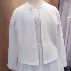 Biały sweterek komunijny PK10