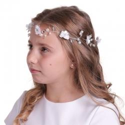 Gałązka do włosów z perełkami i kryształkami WMG01-18