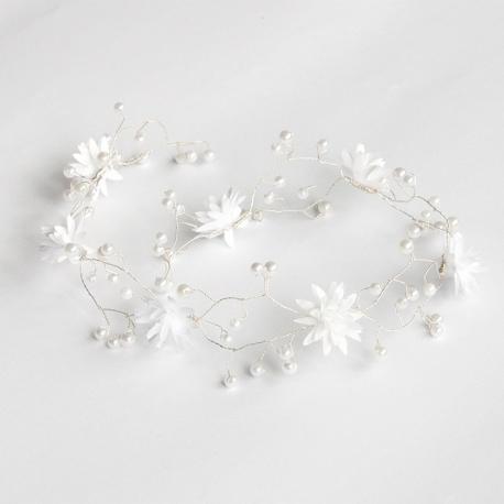 Gałązka wianuszek komunijny z perełkami WMG04