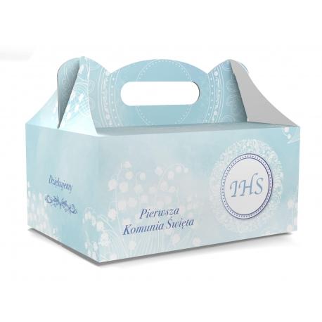 Pudełko na ciasto dla gości 5 sztuk 19x14x9cm. PDT13