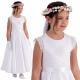 Sukienka komunijna z satyny model Mia